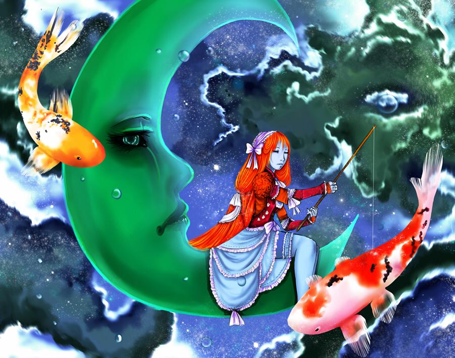 The green moon by Tori-Fan