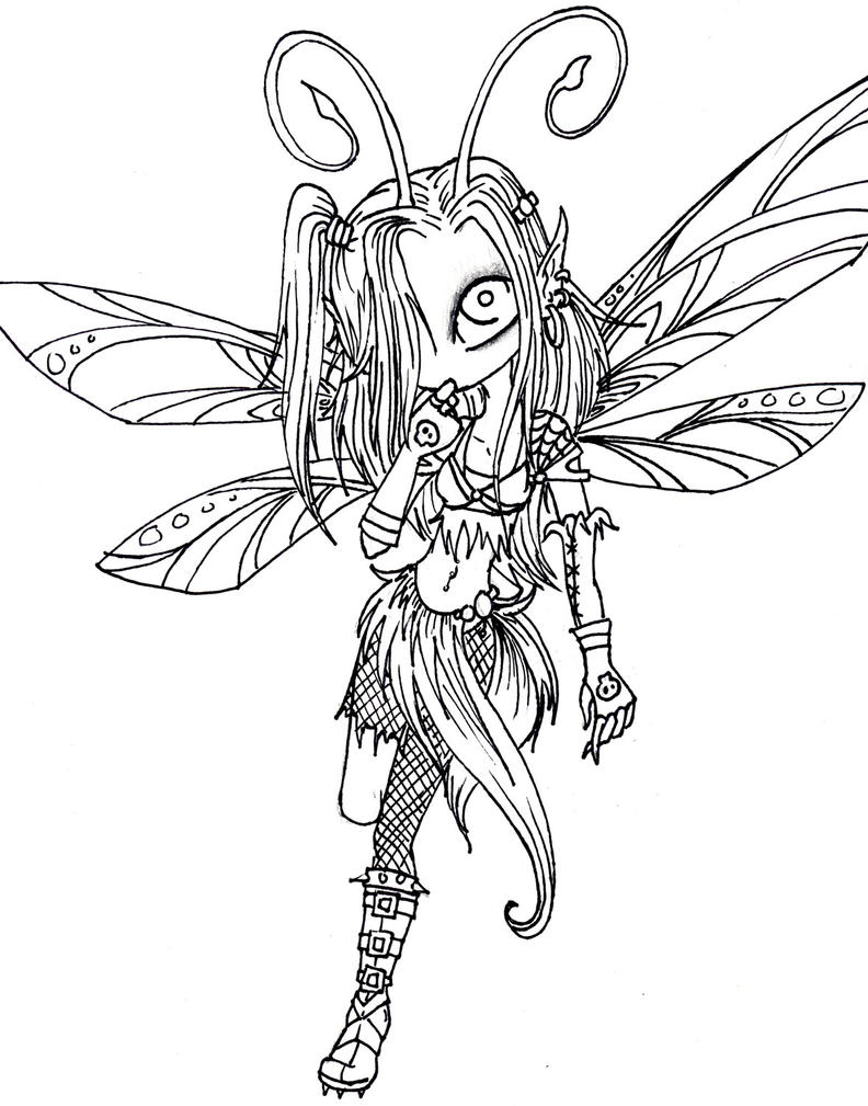 Sexy fairy coloring pages