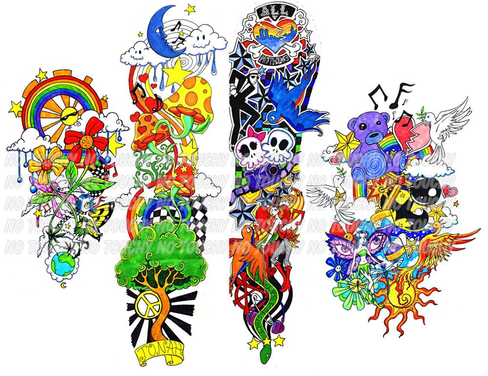 Various Commissions - sleeve tattoo