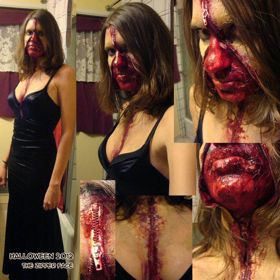 Halloween Zipper Face by MelissaDalton