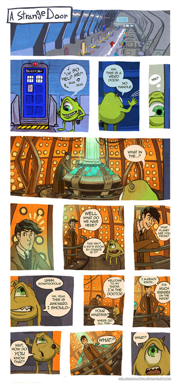 Doctor Who x Monsters Inc by MelissaDalton