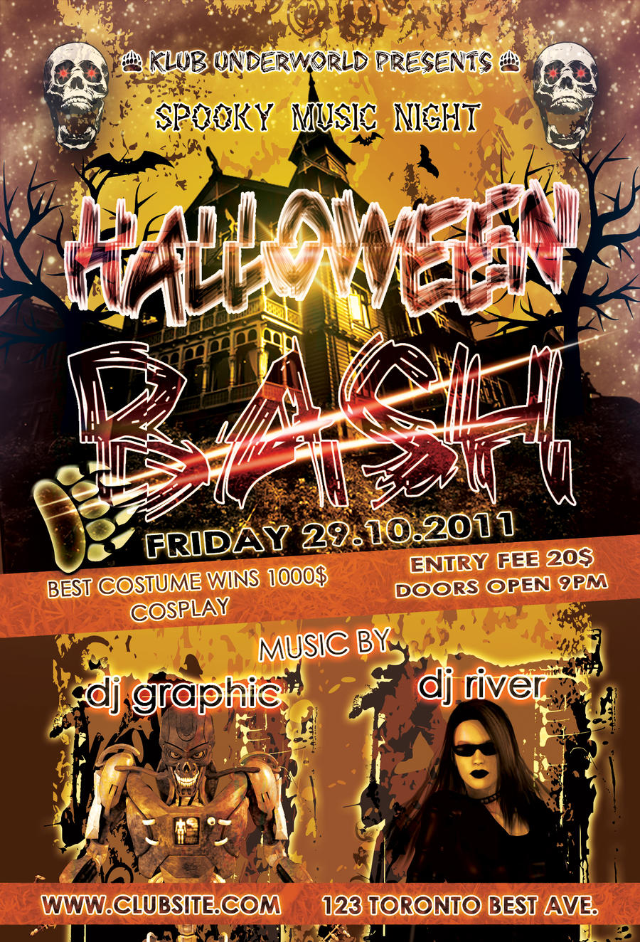 Free Halloween Psd Flyer by amrhamza