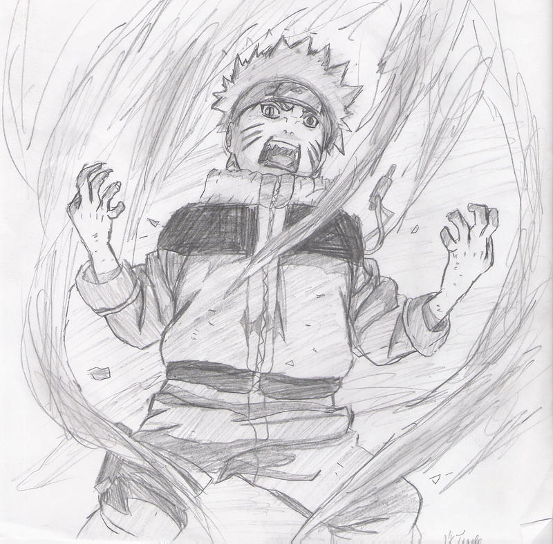 Nine-Tailed Naruto By Narudraw312 On DeviantArt