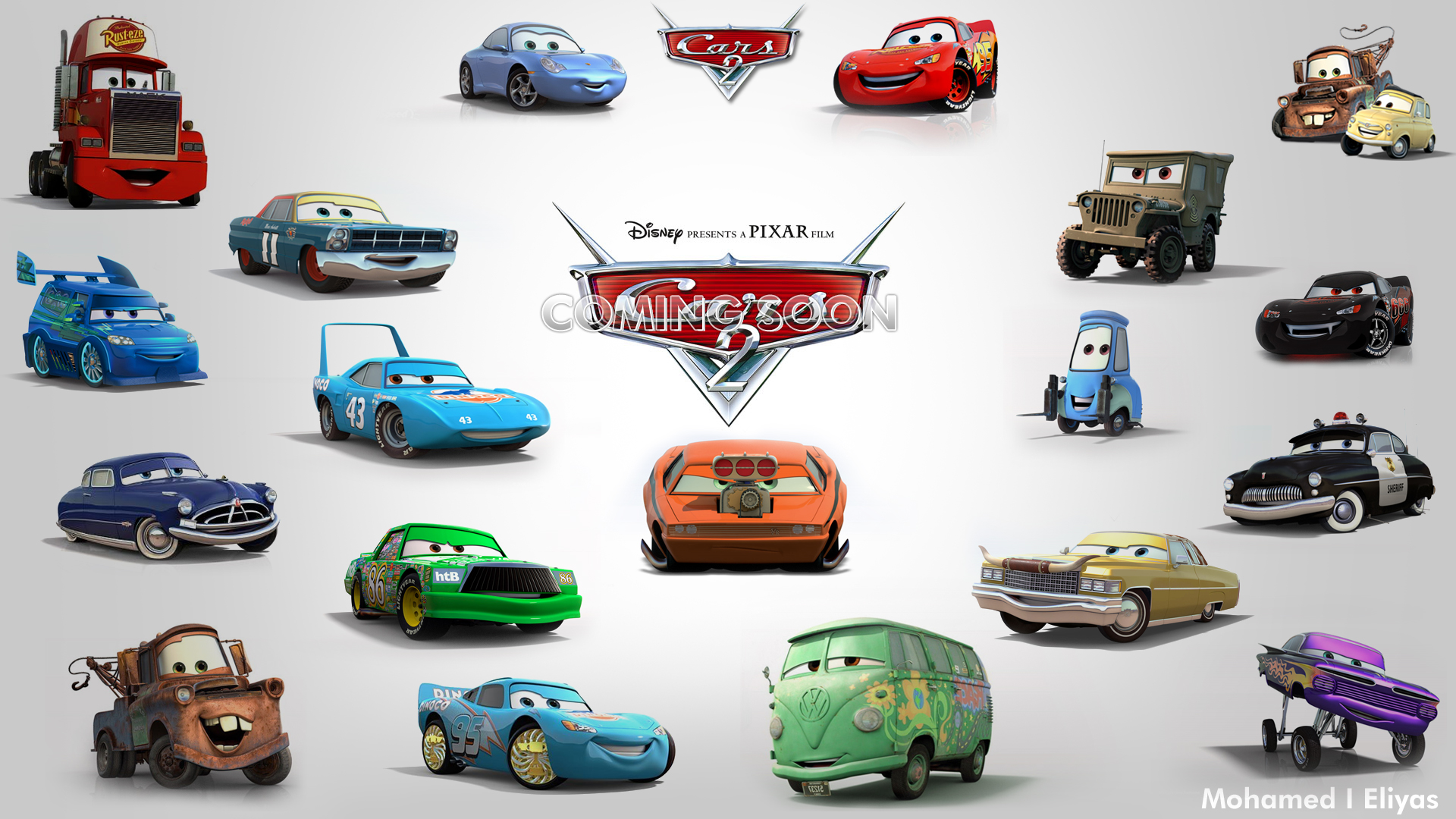 Cars 2 Cartoon Characters Names : Pixar cars characters by eliyasster on deviantart