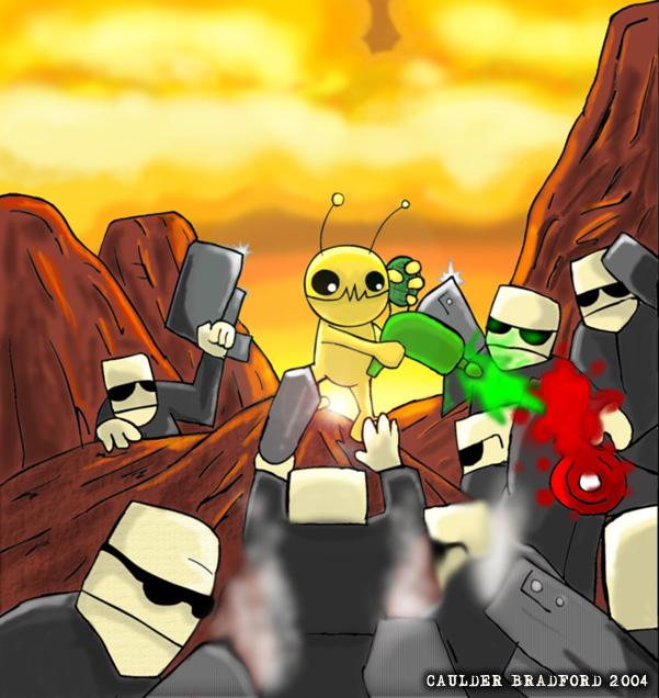 Alien Hominid by bradchaos