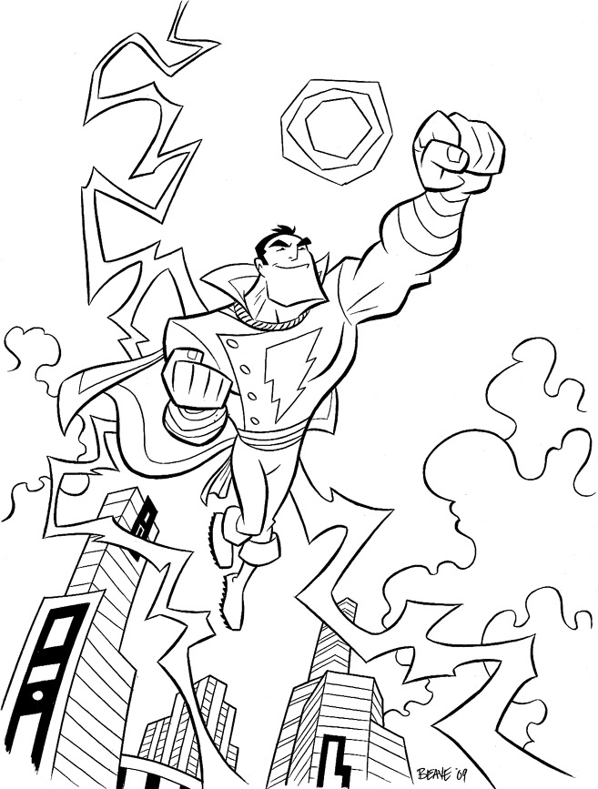 Shazam Art Coloring Pages