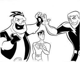 Legion of Superheroes by cretineb