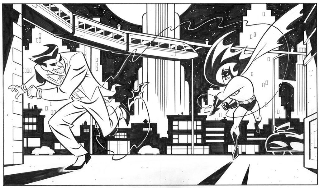 Batman illustration by cretineb