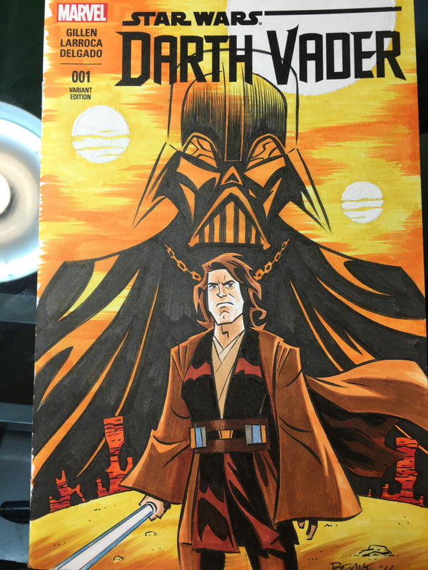 Anakin Vader Sketch Cover by cretineb