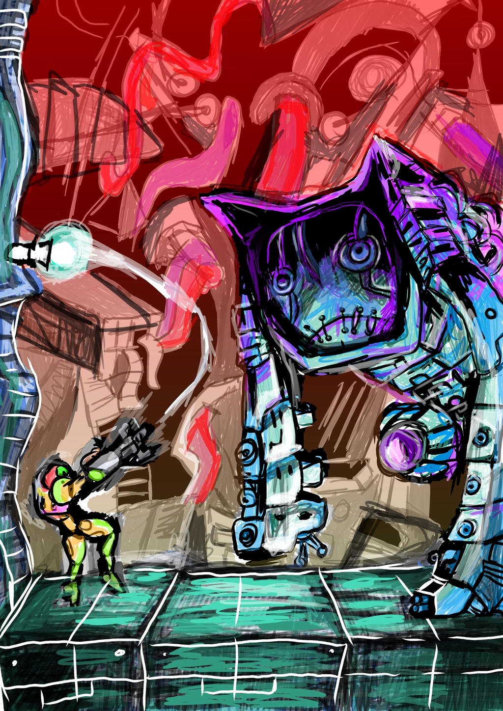 Nightmare Metroid Fusion by Guu1993