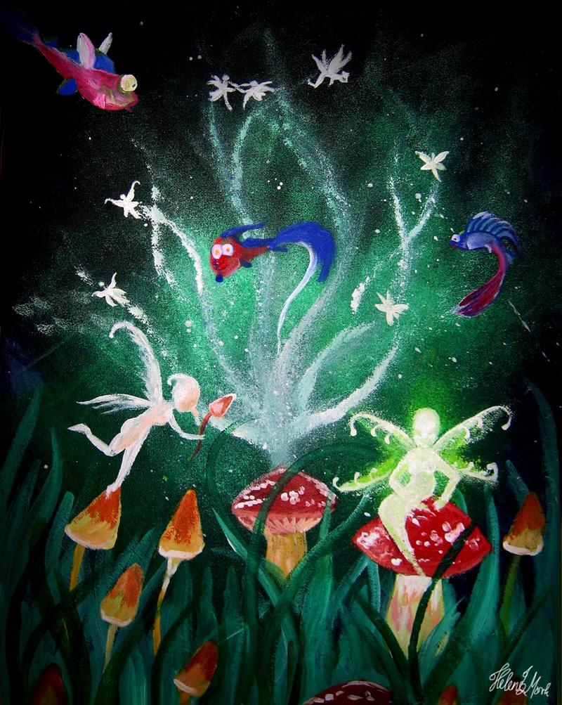 ShroomFishFairy by dragonhope