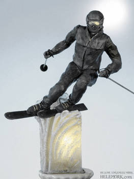 Alpine Skiier Sculpture