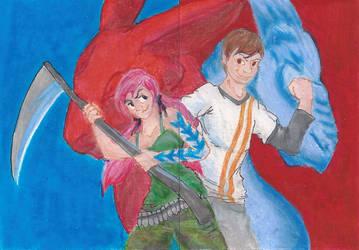 Dawn and Bikuta ATC by applescruff