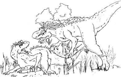 A is for Allosaurus by applescruff