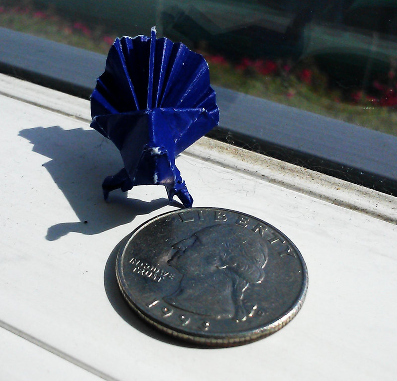 Origami Peacock by applescruff