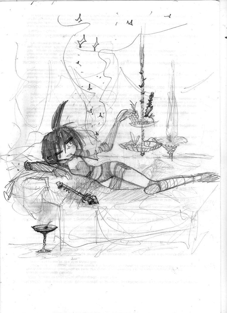 [Chevalier Dota] estudos diversos _chevalier_dota__kassandra_design_sketch_03_by_moonlance-d5va83d