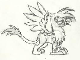 Gilda Griffon Sketch by Knight-of-Bacon
