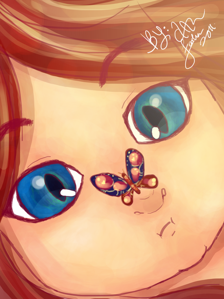 artwork cute girl dreamy butterfly by art an on deviantart