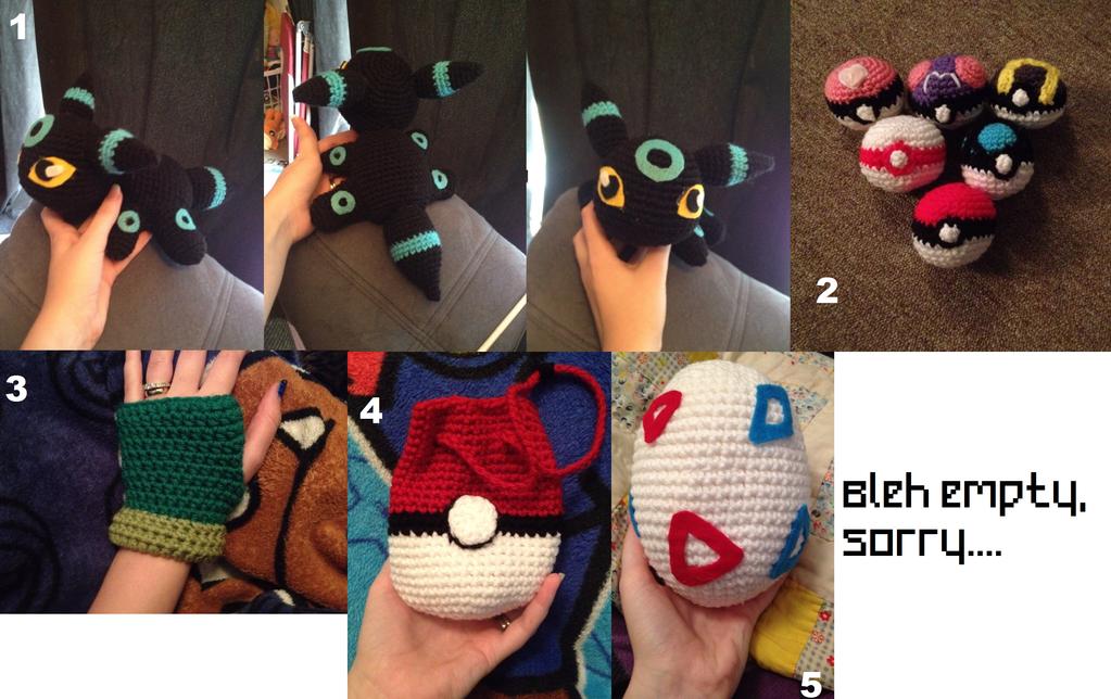 Crochet Dump: Stuffies Part 3 POKEMON by SakuraMota