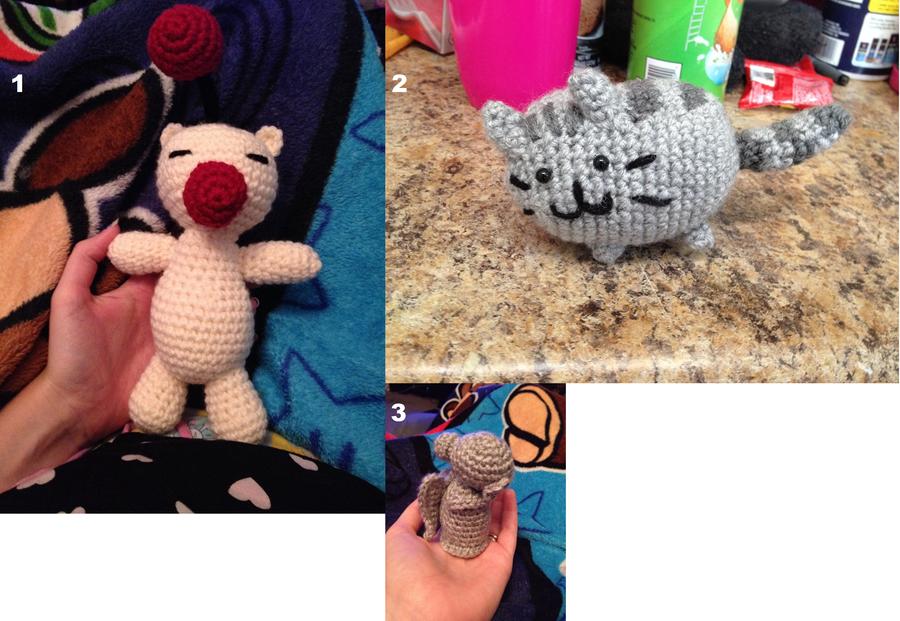 Crochet Dump: Stuffies Part 4 by SakuraMota