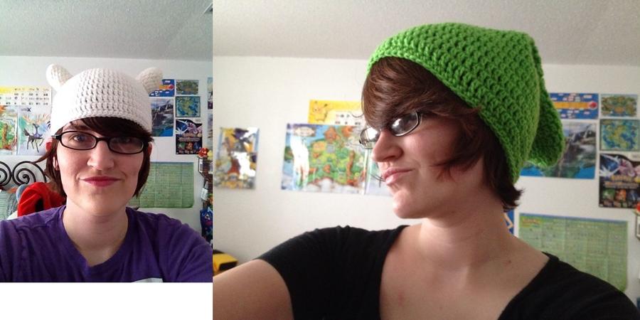 Crochet Dump: Hats Part 1 by SakuraMota