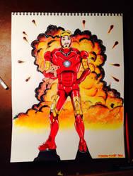 Iron Man GLITTER explosion! by The-AllSparkle