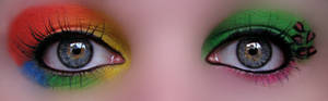 Rainbow and Leopard Make up