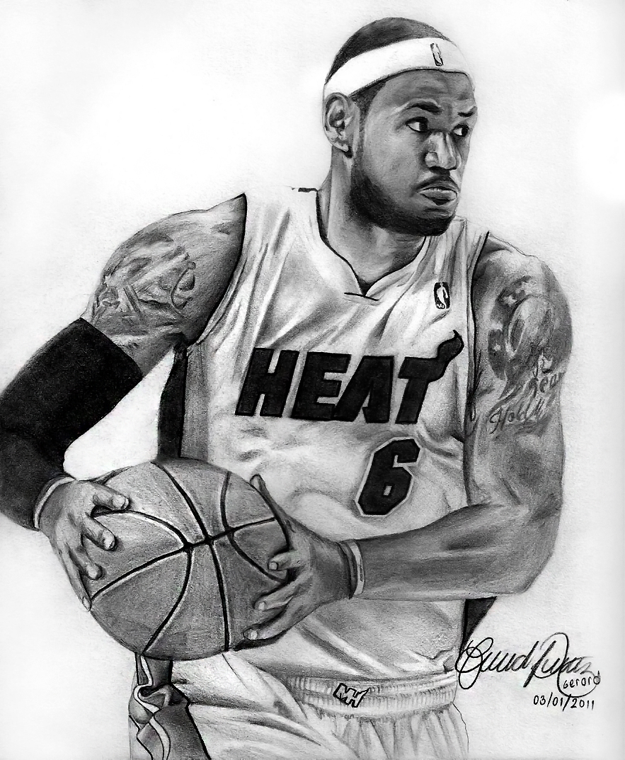 Lebron Dunking Drawing Related For How to Draw Lebron