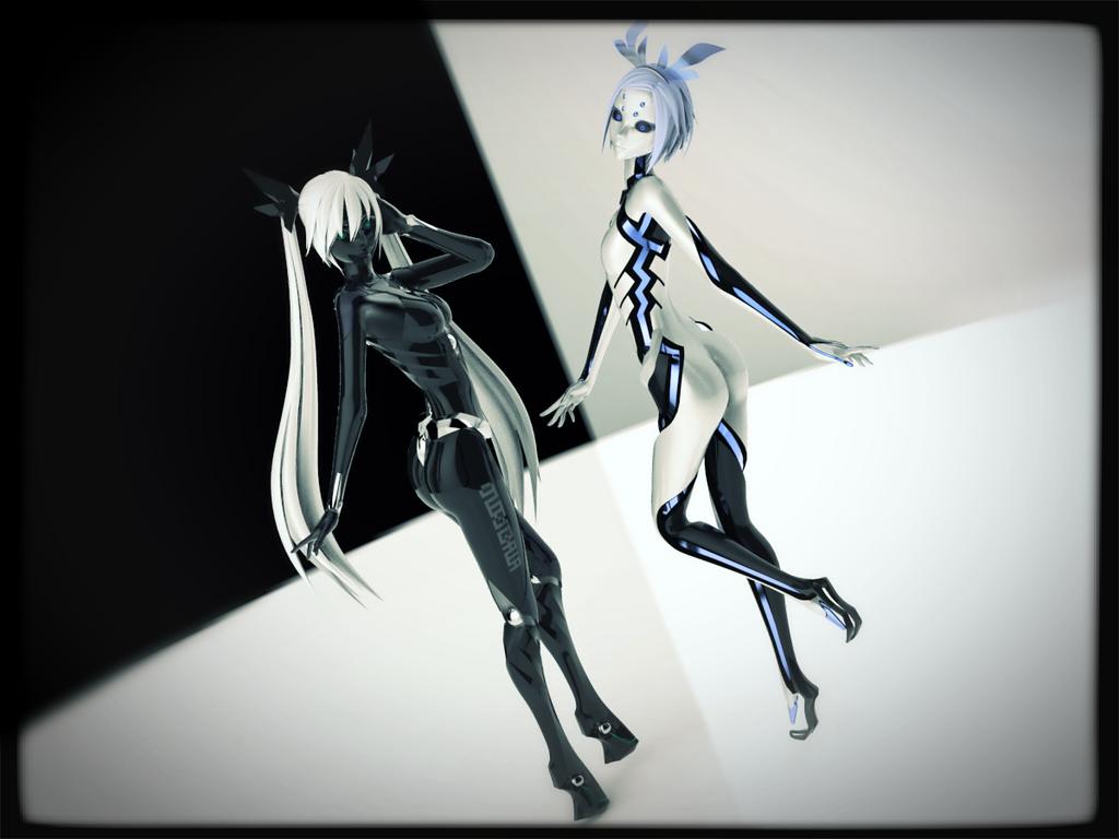 Mmd x keyshot blanc et noir by xxchibi senpaixx on Bureau blanc et noir