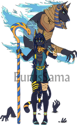 Anippe and Anubis by EurusSama