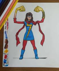 Kamala Khan - Miss Marvel  by RJRArt