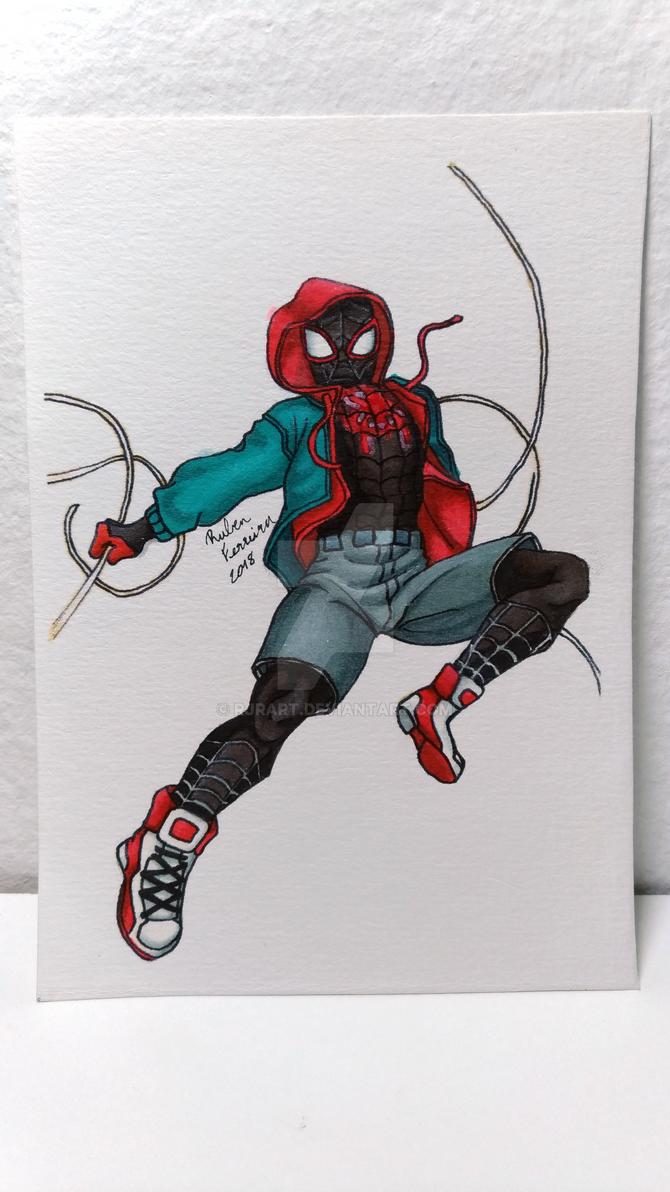 7 - Spider-Man (Miles Morales) by RJRArt