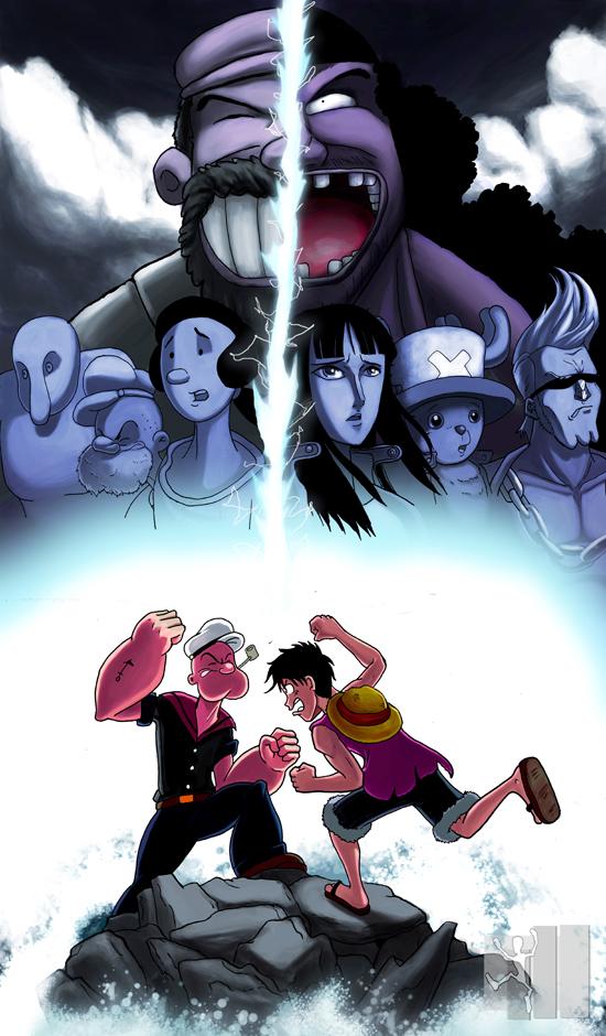 Popeye vs Luffy Popeye_v__Luffy_Round_2_by_bugonisx2