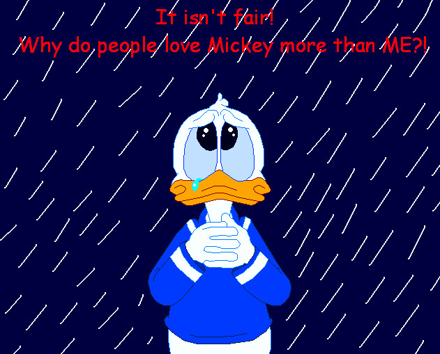 Donald duck sad face - photo#10