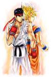 Ryu Vs Goku Remade