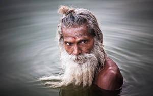 Bathing Baba by goobeencom