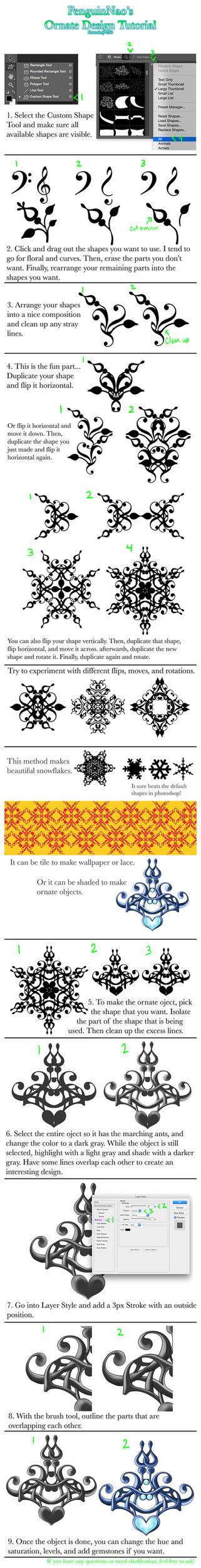 Ornate Design Tutorial by Savinee