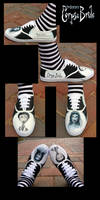 Handpainted corpse bride shoes by rats-rox