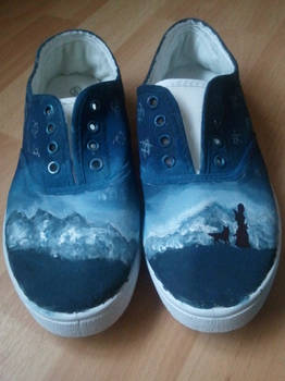 Hand painted Lirael Shoes