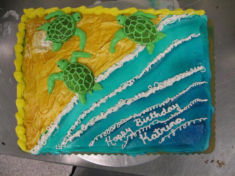 Sea Turtle Cake By Jnferrigno On Deviantart