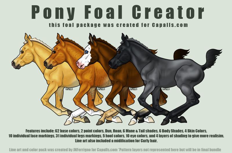Pony Foal Art Creator by JNFerrigno