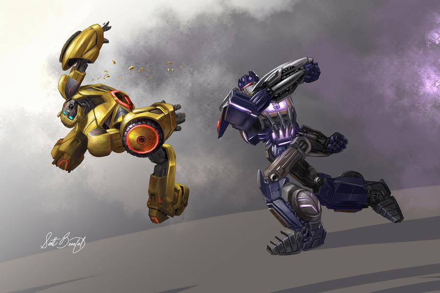 Soundwave vs Bumblebee by scottbenefiel on DeviantArt Bumblebee Vs Megatron