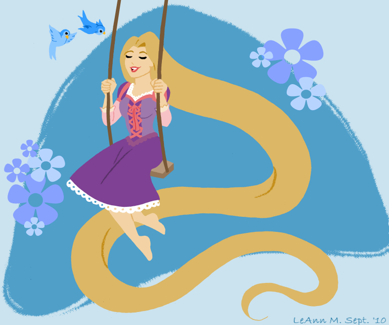 Retro Rapunzel by ForeverRogue