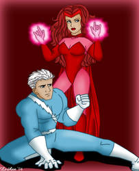 Scarlet Witch and Quicksilver by ForeverRogue