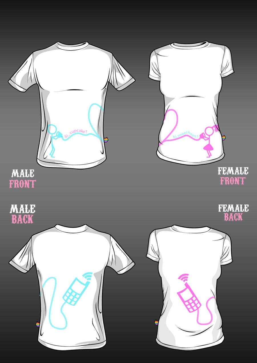Shirt design for couples -  Couple Shirt By Rainbow Nk