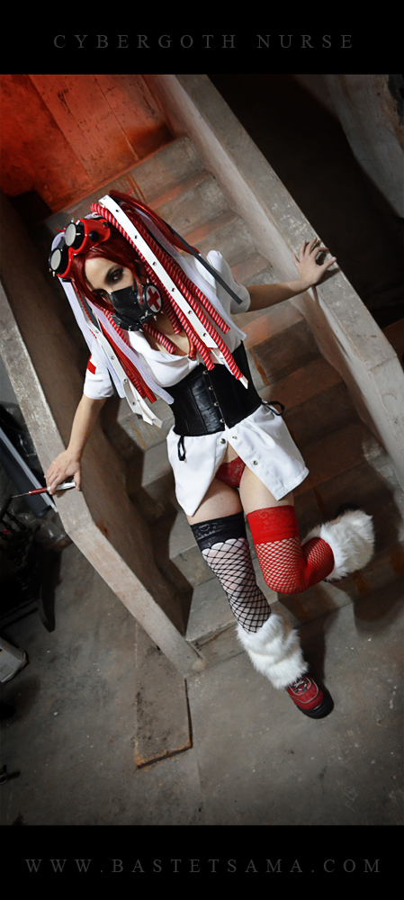 Cybergoth Nurse Costume 04 by Bastetsama-Cosplay