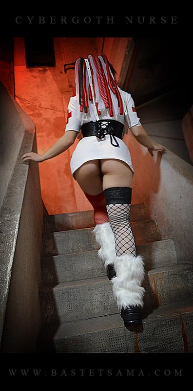 Cybergoth Nurse Costume 07 by Bastetsama-Cosplay