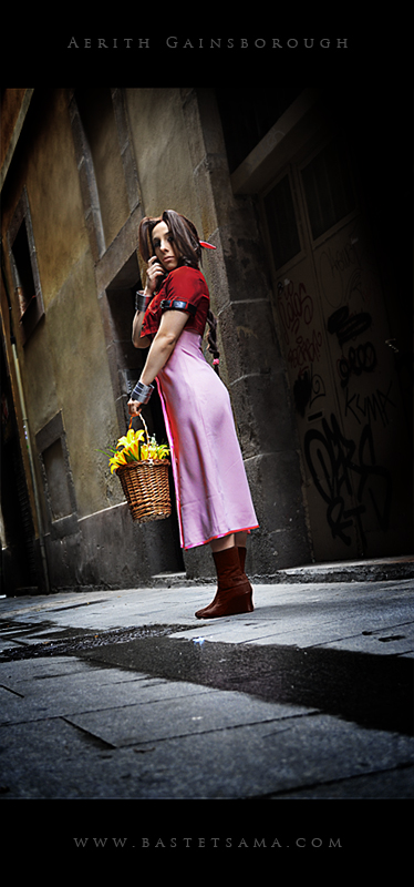 Aerith Cosplay 03 by Bastetsama-Cosplay