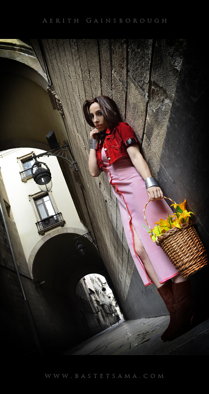 Aerith Cosplay 05 by Bastetsama-Cosplay