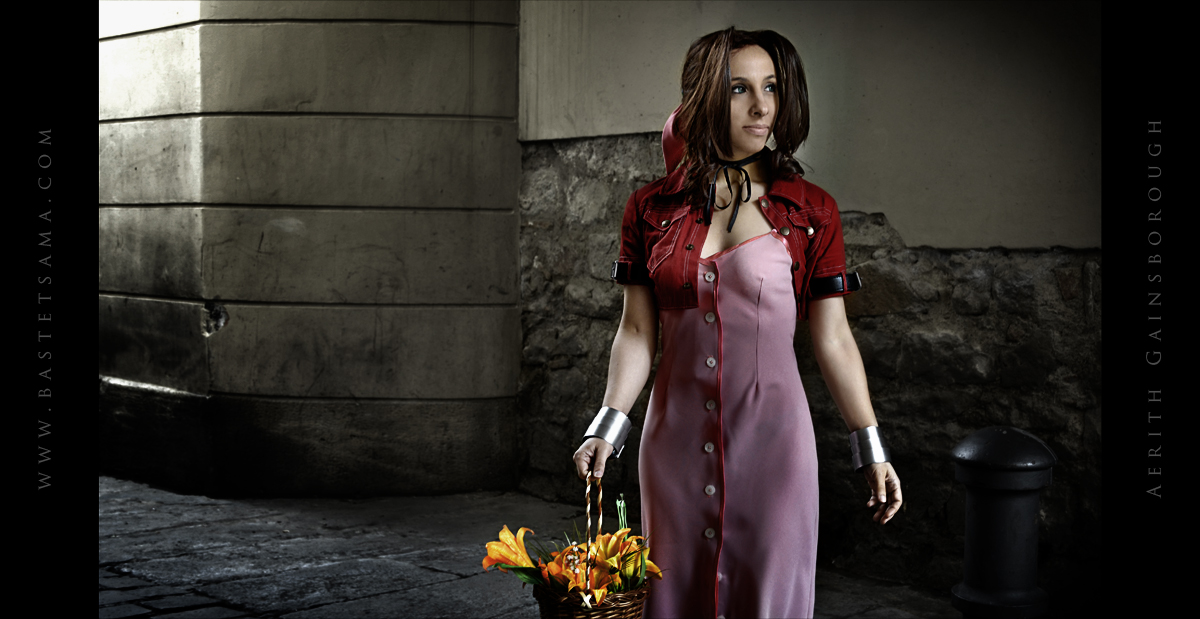 Aerith Cosplay 06 by Bastetsama-Cosplay